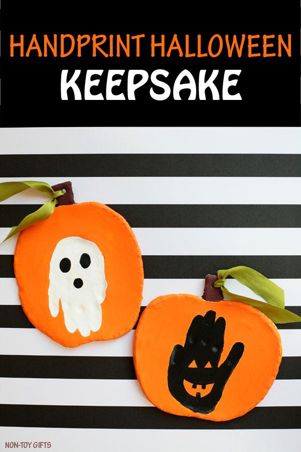 Handprint Halloween keepsake