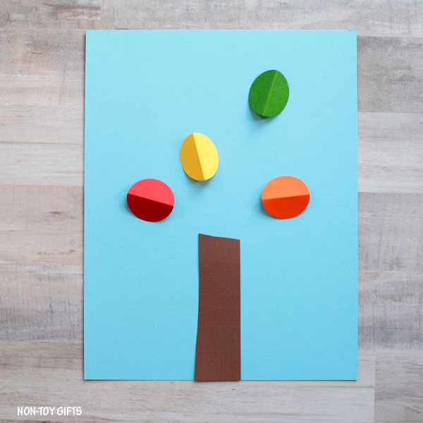 Paper autumn tree craft for kids