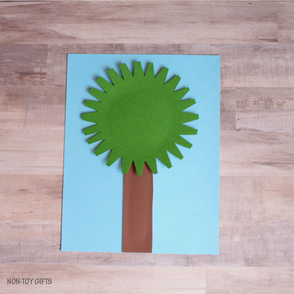 Easy paper fall tree craft for kids