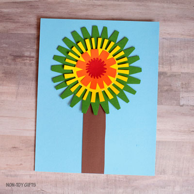 Fall tree craft for kids