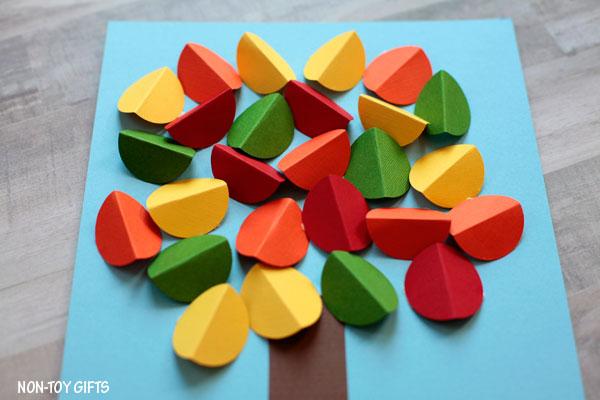 Paper fall tree craft