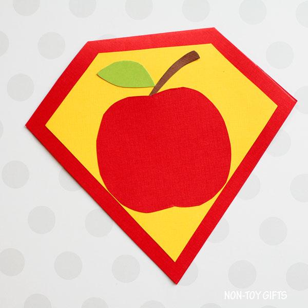 Superhero teacher card for kids to make