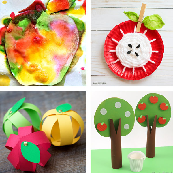 Apple crafts kids