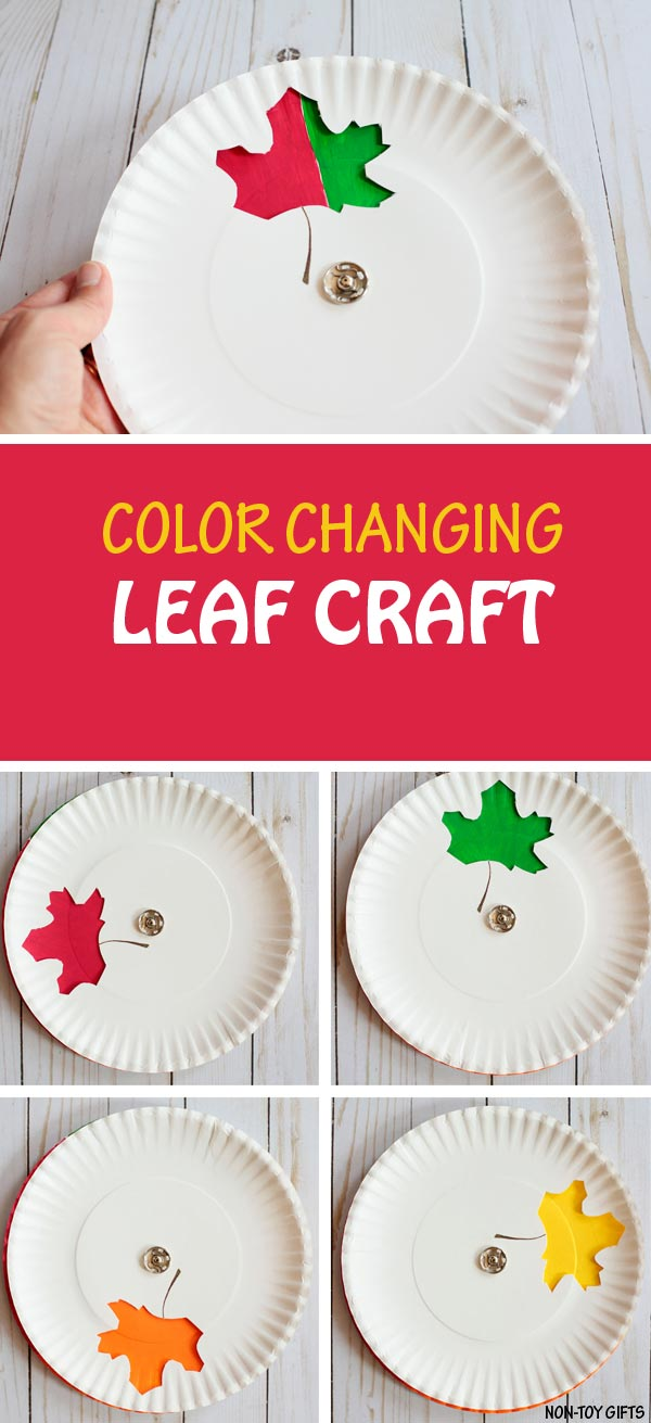 Color changing leaf craft fall craft non toy gifts for When will the leaves start changing 2017