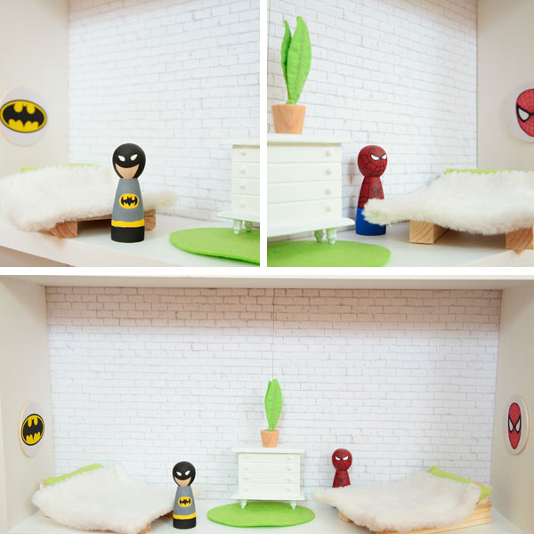 DIY superhero house Batman Spider-Man