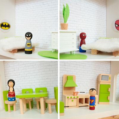 DIY Superhero house – dollhouse for boys