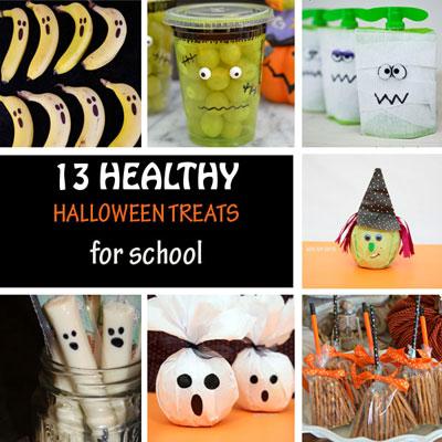 Healthy Halloween treats for school
