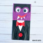 Silly paper bag vampire craft for kids