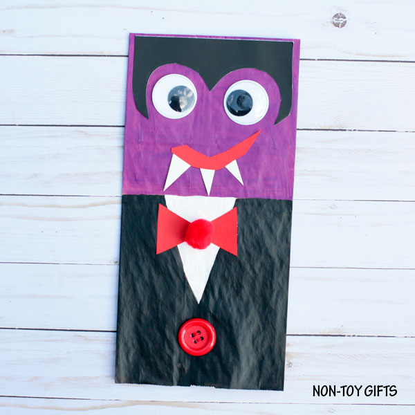 Paper bag vampire craft for kids to try this Halloween