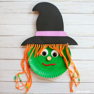 Paper plate witch craft featured image