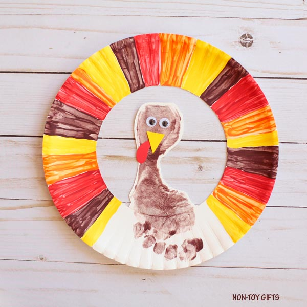 Footprint turkey craft for kids