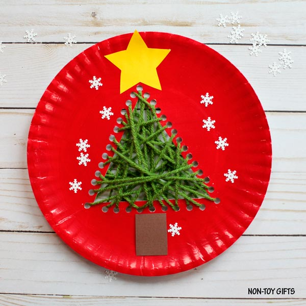 Paper plate Christmas tree craft & Paper plate Christmas tree craft for kids |