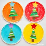 Paper strip Christmas tree craft for kids