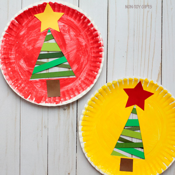 Paper strip Christmas tree - trees with stars