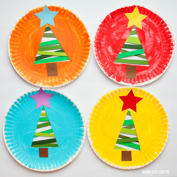 Christmas Tree Craft.Paper Strip Christmas Tree Craft For Kids Free Template