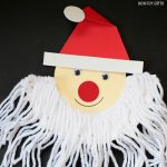 Santa beard craft for kids -fun and cute