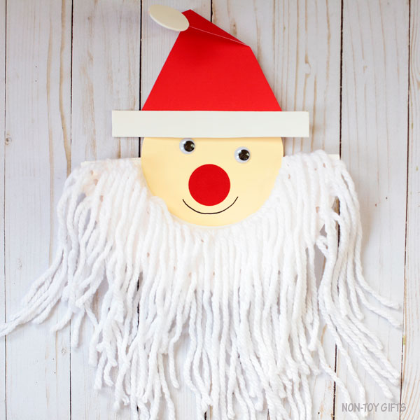 Santa beard craft for Christmas