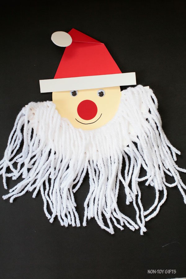 Santa beard craft for kids to make this Christmas