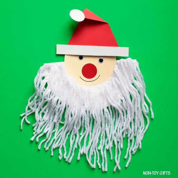 Easy Santa beard craft for kids