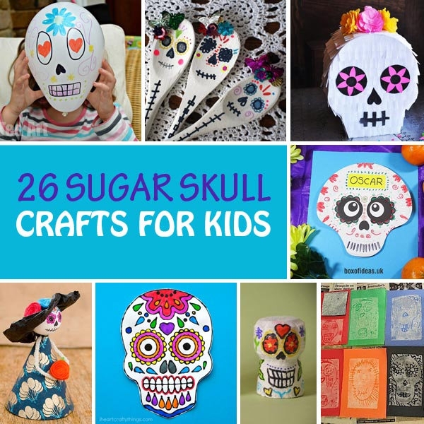 26 Sugar skull crafts for kids