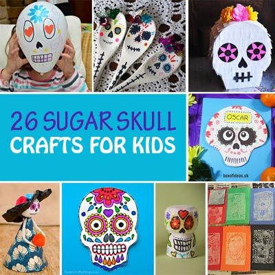 26 Sugar skull crafts for kids – Day of the Dead