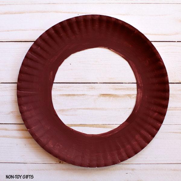 Cut paper plate