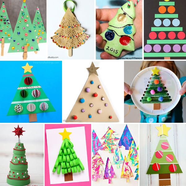 Christmas tree crafts for kids to do this winter