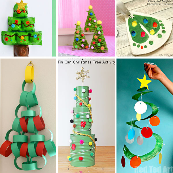 Christmas tree crafts for kids to make this winter