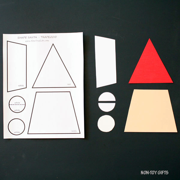 Shape Santa craft - trapezoid