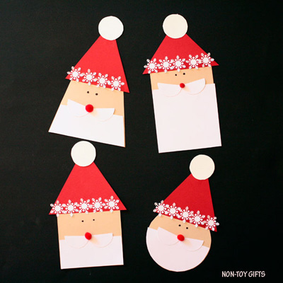 Shape Santa craft made with paper