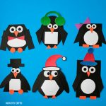 Mix and match shape penguin craft