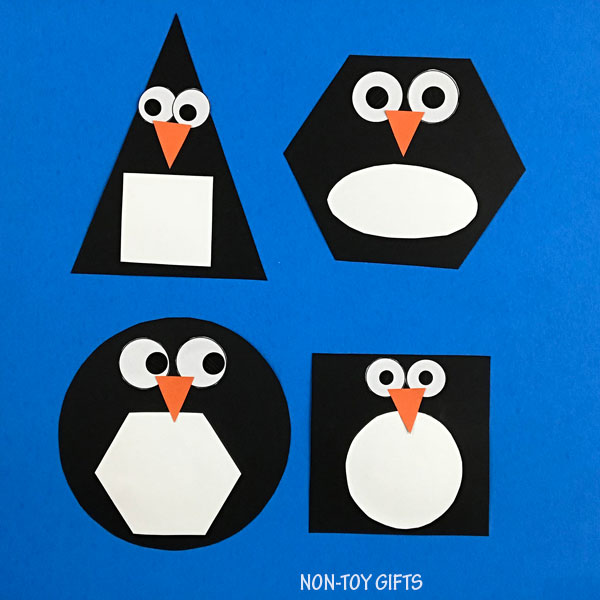 Fun shape penguin craft