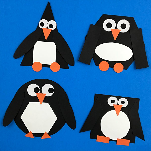 2D shape penguin craft
