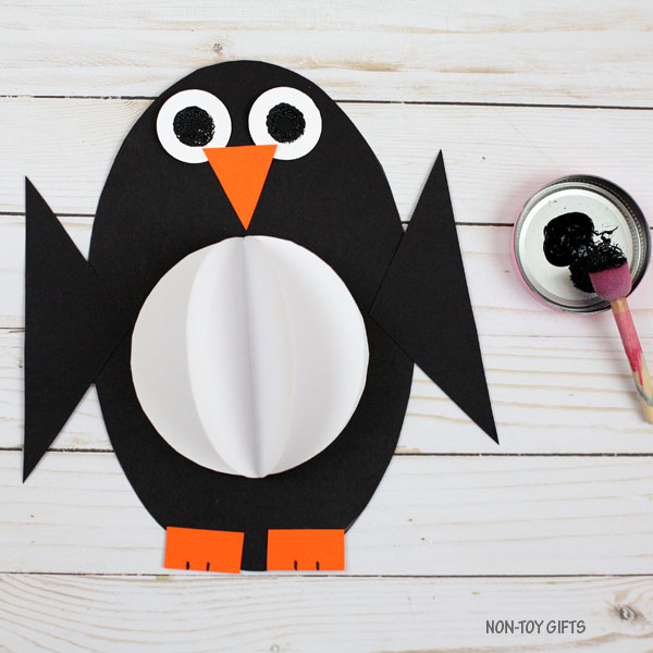 3D shape penguin craft