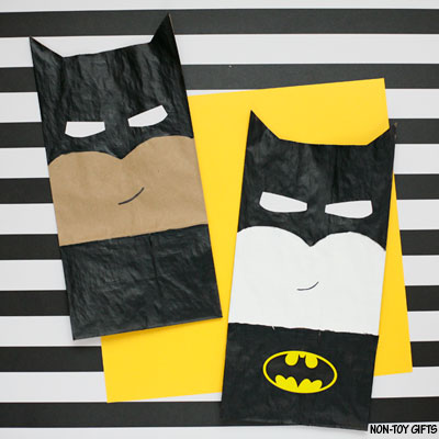 Paper bag Batman craft for kids