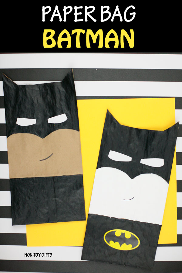 Paper bag Batman craft for kids who love superheroes. #superhero #superherocraft #batman