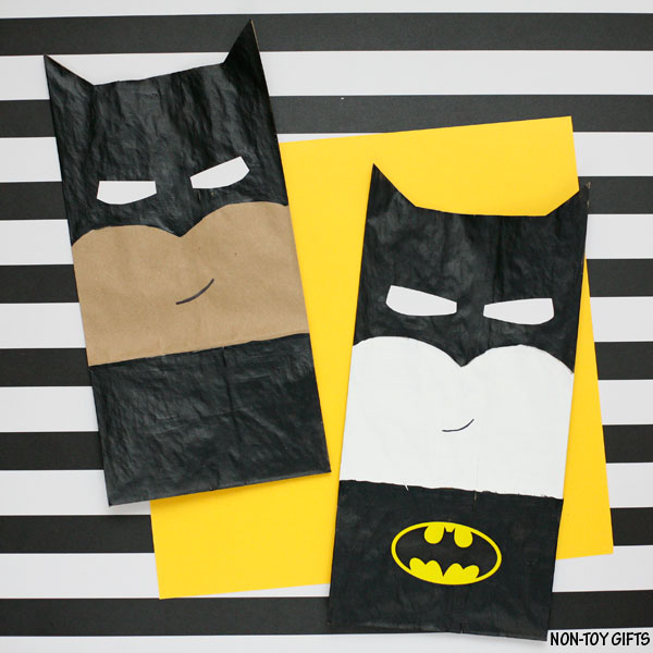 Paper bag Batman craft