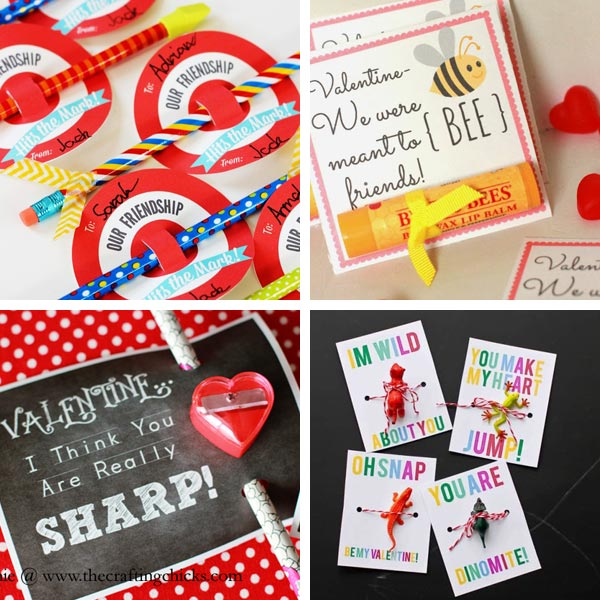 Non-candy Valentines with printables