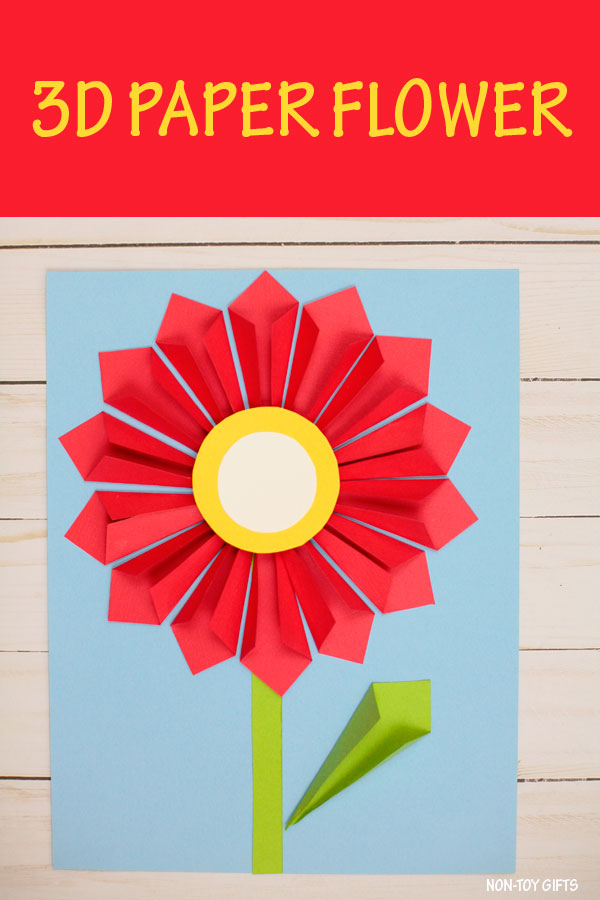 3D Paper Flower Craft For Mothers Day Or Spring