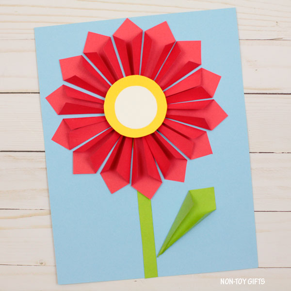 3D paper flower spring craft
