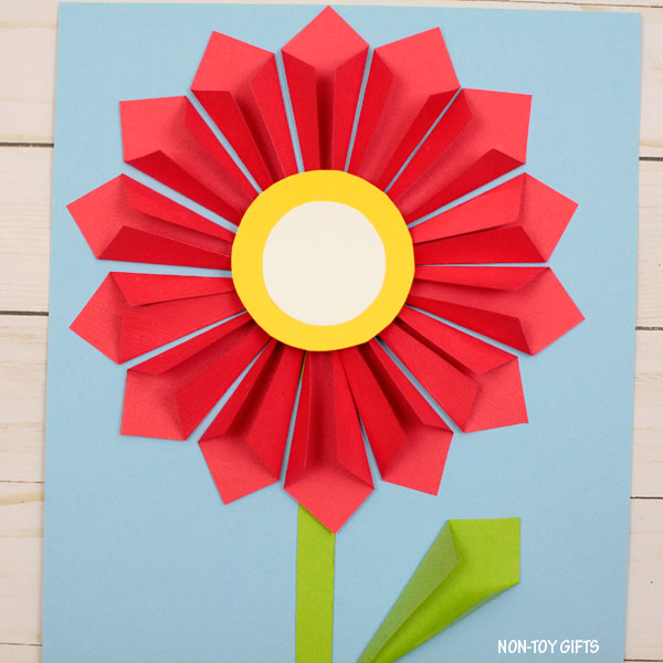 3D paper flower craft for Mother's Day