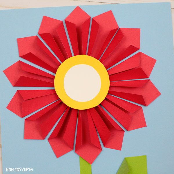 3d paper flower craft for mothers day non toy gifts 3d paper flower craft for kids to make this spring mightylinksfo