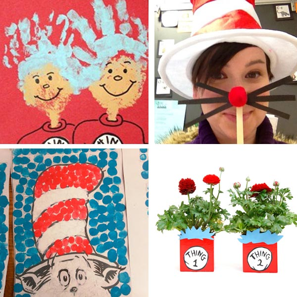 Cat in the Hat crafts collage 4