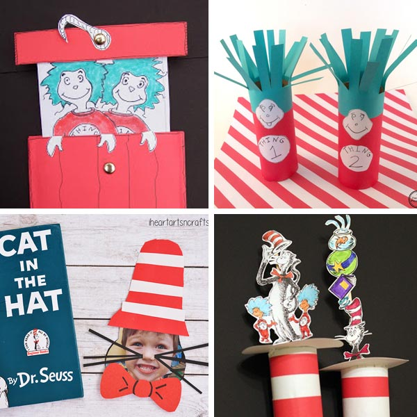 Cat in the Hat crafts collage 5