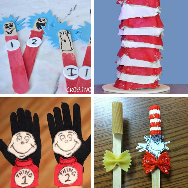 Cat in the Hat crafts collage 6