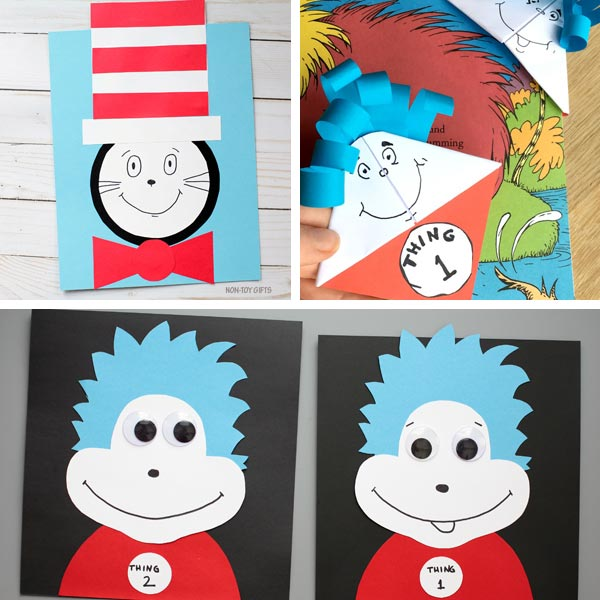 Cat in the Hat crafts collage 7