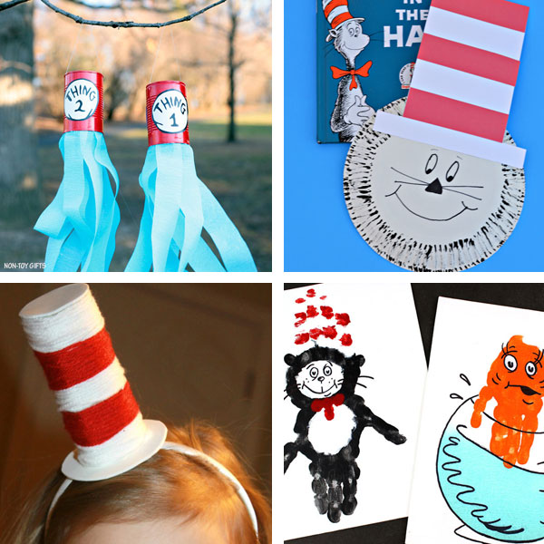 Cat in the Hat crafts collage 3