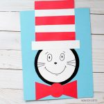 Cat in the Hat craft made with shapes