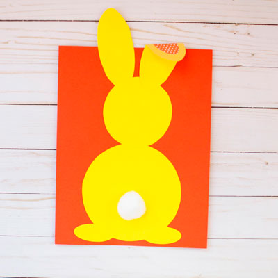 Shape bunny craft for spring and Easter