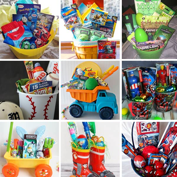 11 homemade easter basket ideas for boys non toy gifts diy easter basket ideas for boys negle Gallery
